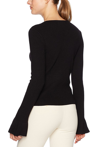 Cupcakes and Cashmere Belle Âme Sweater in Black