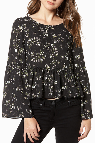 Cupcakes and Cashmere Falling In Love Top in Black
