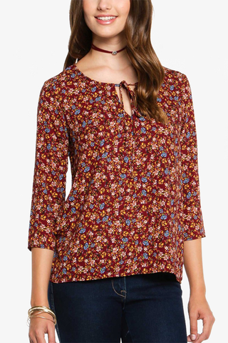 Pick Me Top in Maroon