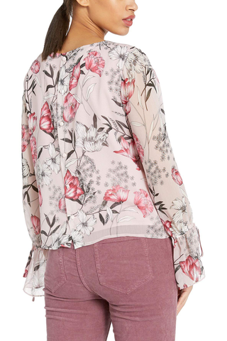 Cupcakes and Cashmere Dear Believer Blouse in Pink