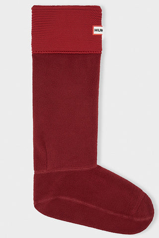 Hunter Garter Stitch Socks in Lava Red
