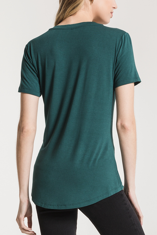Z Supply Sleek Pocket Tee in Jade