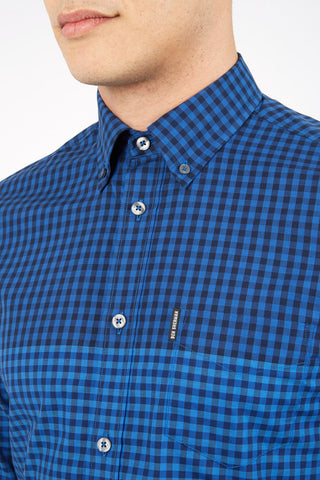 Ben Sherman Whole Lot Of Trouble L/S Shirt in Blue