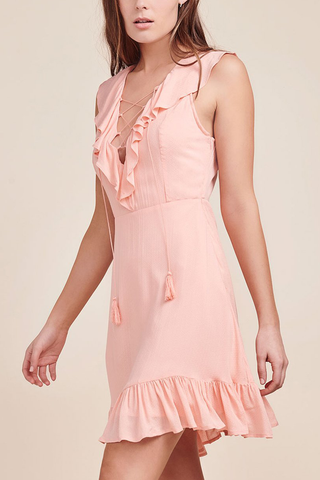 Jack by BB Dakota Marie A-Line Dress in Coral