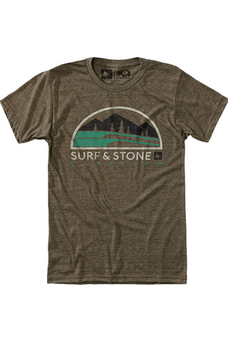 Gone Hiking Tee in Brown