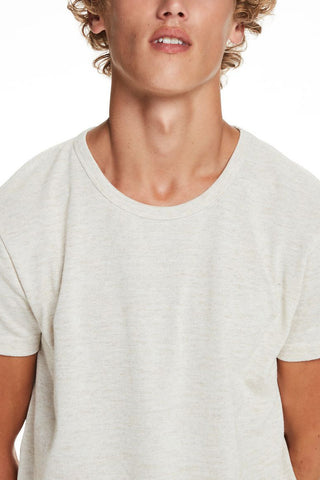 Scotch & Soda Felix Long Tee in Wheat
