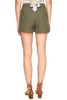 Jack by BB Dakota Denise Tie Shorts in Army