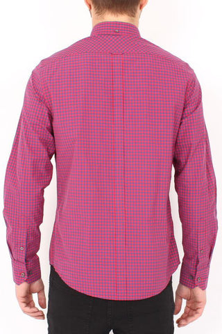 Ben Sherman Lasting Moment L/S Shirt in Red