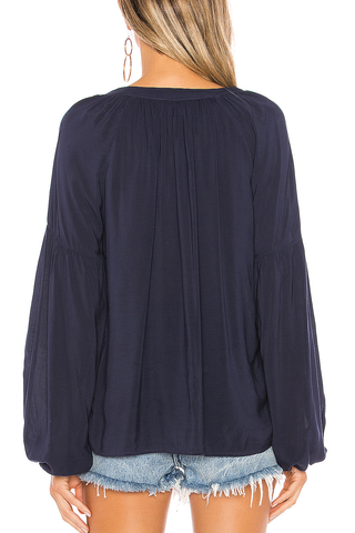 Velvet Celine Top in Navy