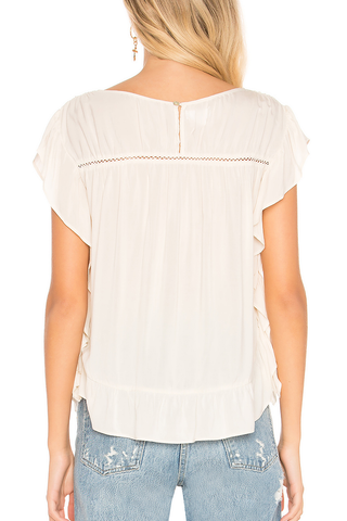 Velvet Loving Arms Top in Cream