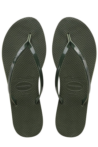 Havaianas You Metallic in Green Olive