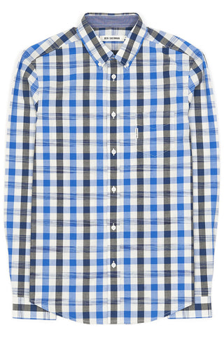 Ben Sherman Into The Void L/S Shirt in Blue