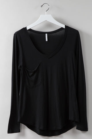 Z Supply Best Night L/S Tee in Black