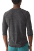 Alternative Apparel 3/4 Raglan Henley in Black