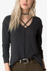 White Crow Jules Top in Coal