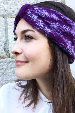 Aubrey Headscarf in Aubergine
