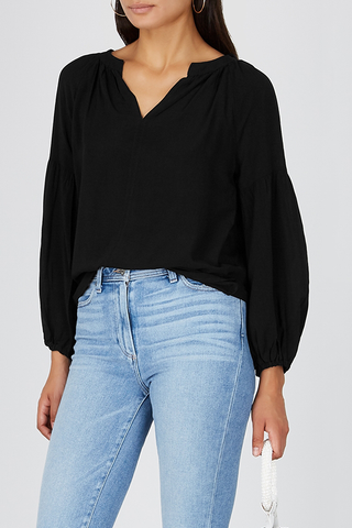 Velvet Celine Top in Black