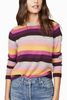 Velvet Give Love Cashmere Sweater in Rainbow