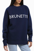 Brunette The Label Brunettes Rule! Sweater in Navy