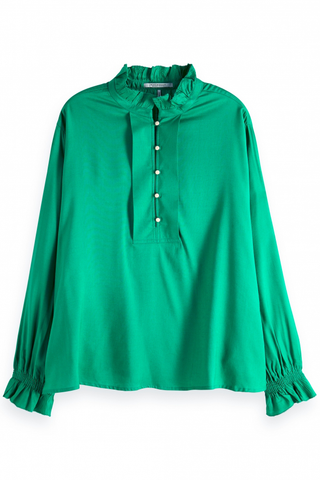 Maison Scotch Vida Blouse in Green