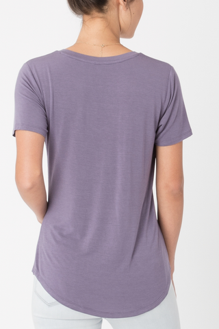 Z Supply Sleek Pocket Tee in Lilac