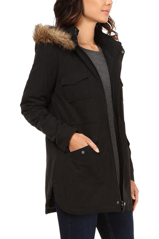 Jack by BB Dakota Snow Squall Coat in Black