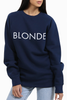 Brunette The Label Blondes Rule! Sweater in Navy