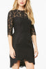 Cupcakes and Cashmere Pop The Champagne Dress in Black