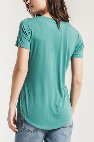 Z Supply Sleek Pocket Tee in Teal