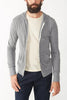 Alternative Lightweight Eco Heather Zip Hoodie in Grey