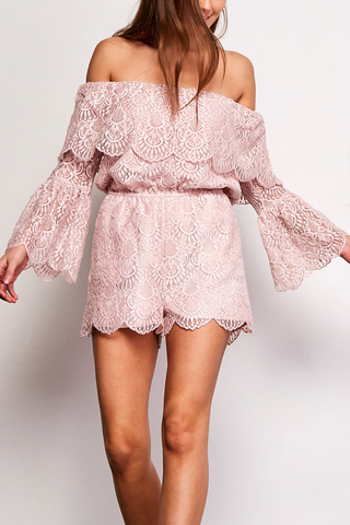 BB Dakota Estelle Romper in Blush