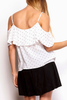 BB Dakota Polka Dot Tank in White