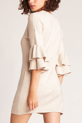BB Dakota Sweet Side Sweater Dress in Oat