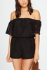 BB Dakota Lemon Drop Romper in Black