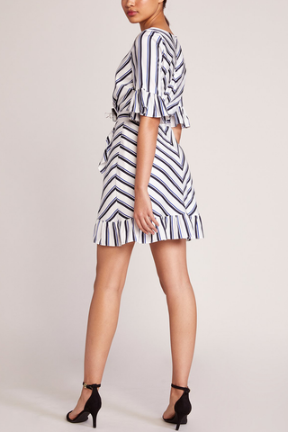 BB Dakota Front Row Dress in Stripe