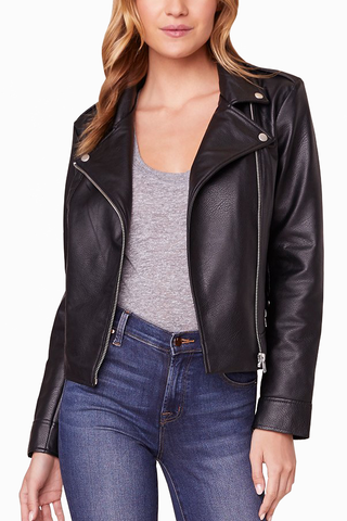 BB Dakota Sandie Moto Jacket in Black