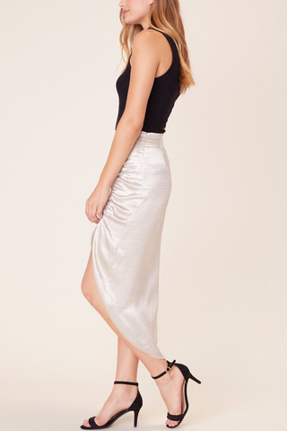 BB Dakota Sammy Skirt in Silver