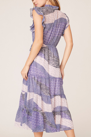 BB Dakota Ethel Midi Dress in Lilac