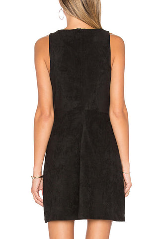 Cupcakes and Cashmere Suede to Black Dress in Noir