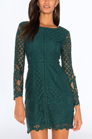 Cupcakes and Cashmere Little Of Your Love Dress in Ivy