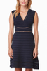 Cupcakes and Cashmere Turning Tables Dress in Navy