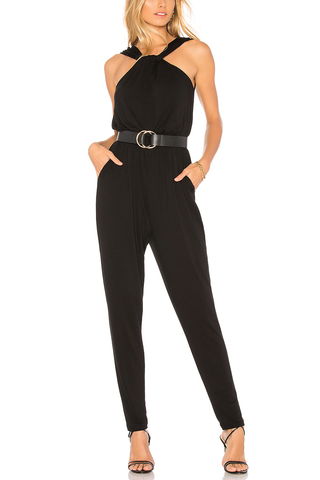 Cupcakes and Cashmere Felicia Jumpsuit in Noir