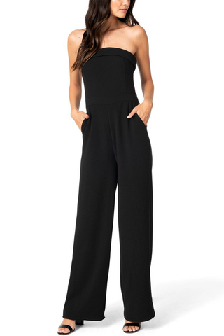 Cupcakes and Cashmere Coraline Jumpsuit in Noir