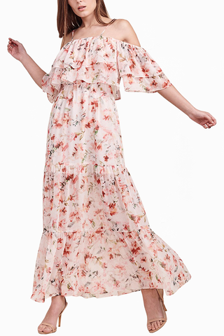 BB Dakota Rose Garden Maxi in Blush