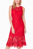 BB Dakota Reba Lace Dress in Red