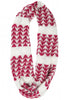 Xandra Eternity Scarf in Pure Snow/Garnet