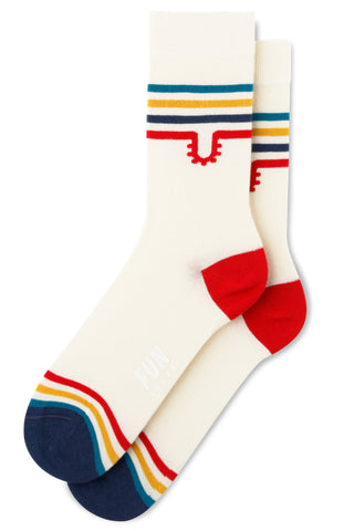 Women's Varsity Fun Socks in Cream