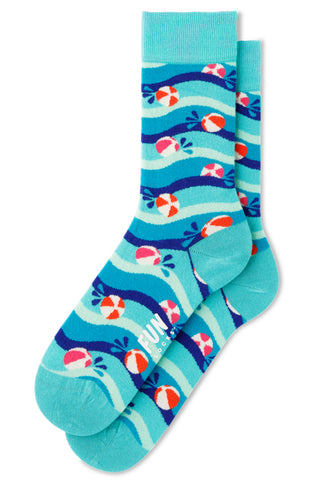 Women's Beach Balls Socks in Aqua