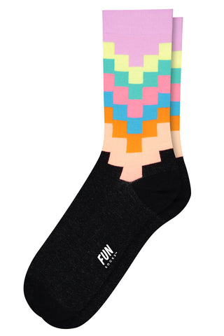 Women's Tetris Fun Socks in Multi