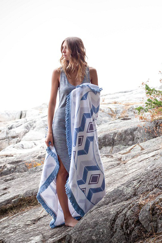 Tofino Towel Co. Queensland Towel in White